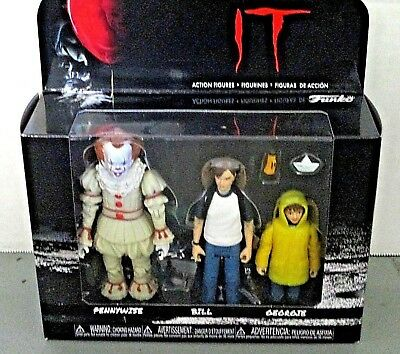 Funko It Pennywise Figures Boxed Set 3 Pack New Sealed Unpunched Action Figures