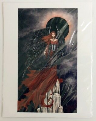 Amy Brown Eclipse 8.5x11 Fairy Gothic Angel Art Sealed