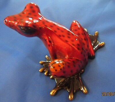Bronze Frog Figurine Statue / Barry Stein Sculpture Art