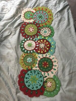 Pier 1 One Imports Christmas Beaded Table Runner NWT