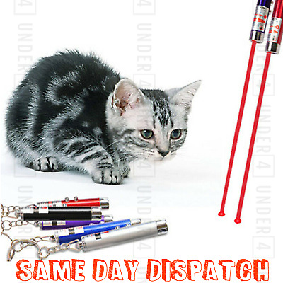 Laser Teaser Pen Cat Kitten Fun Exercise Play Toy Mouse Projecting Flash Pointer