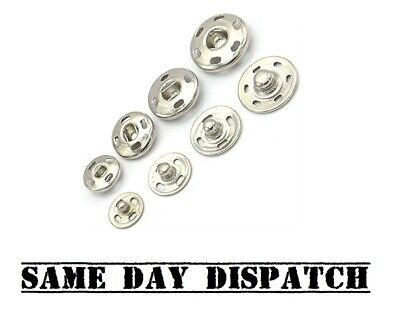 20Pc SNAP FASTENINGS Small Large Press Studs Duvet Poppers Sew Clothing Button