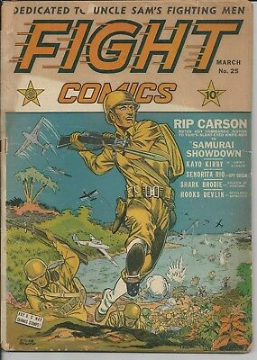 Fight Comics #25 Good (2.0) (March 1943) Classic War Cover Great Good Girl Art
