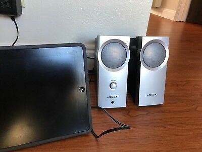 BOSE COMPANION 2 Series I Computer PC Speakers RCA Cable AC Adapter Included