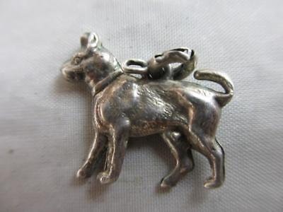 Dog Sterling Silver Pendant Charm Antique Victorian c1890. tbj05197