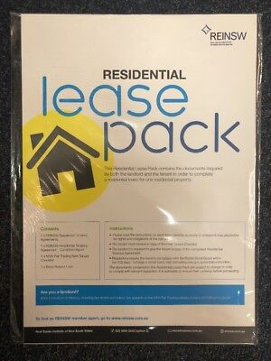 NSW Residential Lease Pack REINSW Brand new free postage
