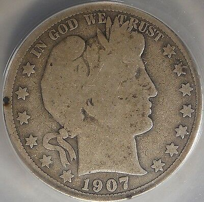 1907-O G G4 Good  Cirtifited ANACS Barber Half Dollar 50c Silver Coin 163