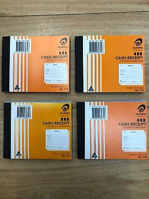 Olympic Cash Receipt Books Duplicate No 714 Carbonless 50 Leaf