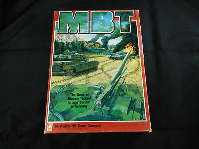 AVALON HILL MBT Board Game Unpunched