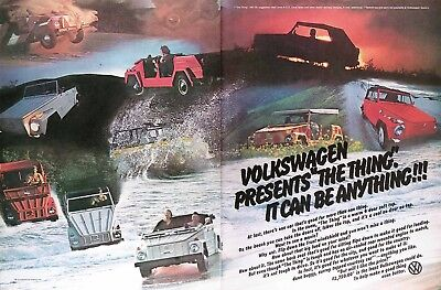 1973 VOLKSWAGEN VW THING 181 Genuine Vintage Ad ~ DEBUT Year To USA! $2,750