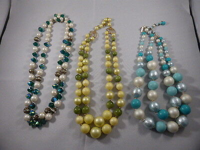 Vintage Jewelry LOT OF 3 Necklaces BEADS