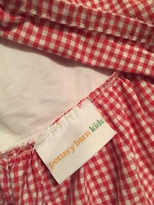 Pottery Barn Kids Red And White Gingham Crib Skirt