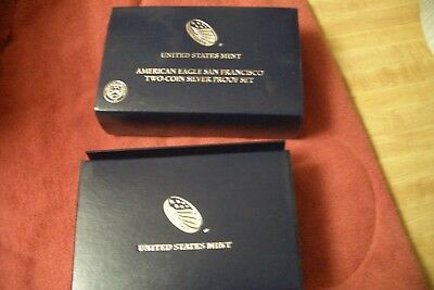 2012 American Eagle San Francisco Two-Coin Silver Proof Set w/ Reverse Proof!