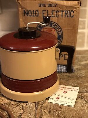 Vintage  U.S. Electric Popper No. 10 1947  Popper Box