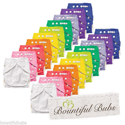 Cloth Nappies, Bamboo, x 20, with 4 layer Bamboo Booster Insert, Bountiful Bubs