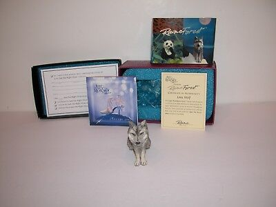 Just The Right Shoe Raine Lone Wolf Item 25122 with Box & COA