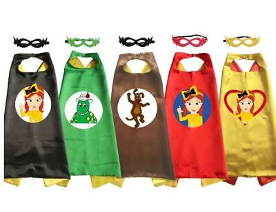 Emma Wiggle Costume Cape Girls Halloween Cosplay for Birthday Party Favor