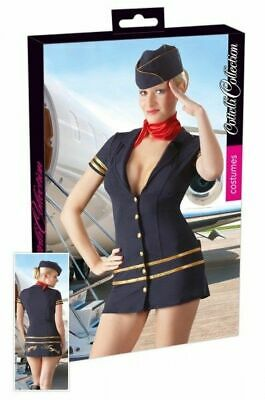 Cottelli Collection Costumes Stewardess Kleid blau XL Kostüm Erotik Bekleidung