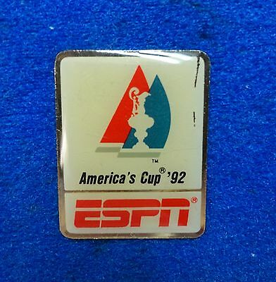 ESPN Tv Television 1992 America's Cup Sailing Yachting Event Media Lapel Pin z3