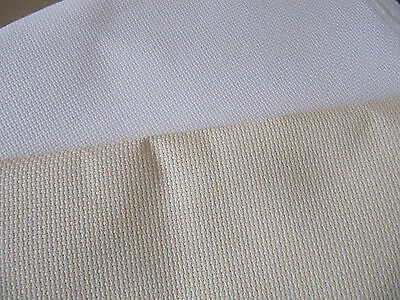 14 count Aida Cross Stitch Fabric white or cream 50 x 40 cm cut off bolt