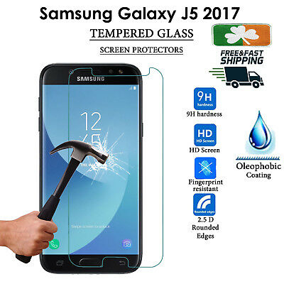 Premium Quality Tempered Glass Screen Protector Film For Samsung Galaxy J5 2017