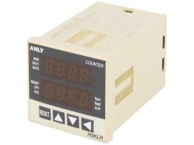 A-H5KLR-8B-230 Counter electronical Display2x LED Range9999 octal PIN8