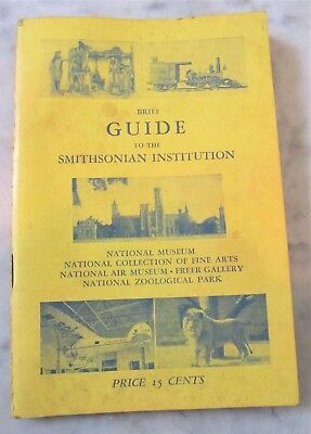 Vintage 1956 Brief Guide To The Smithsonian Institution Booklet Washington DC