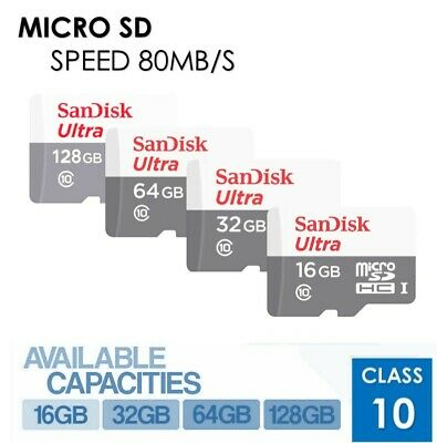 Sandisk 16GB 32GB 64GB Micro SD Class 10 TF Flash SDHC Memory Card Adapter LOT