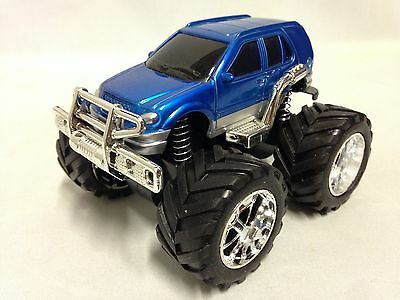"""Monster 4 X 4 Car 5"""" w/ Super Friction Power, Individual Suspension Toy SUV Blue"""