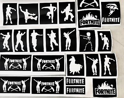 24 stencils Fortnite Floss Fortnight To P up Ur glitter tattoo kit face painting