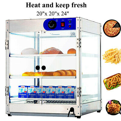 """20""""x20""""x24"""" Countertop Commercial Food Pizza Heat Warmer Cabinet Display Case"""