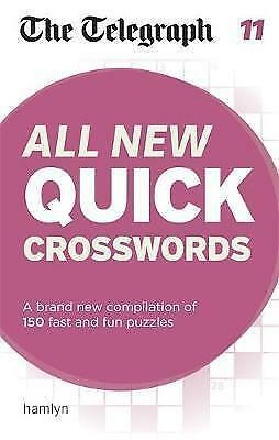 The Telegraph: All New Quick Crosswords 11 (The Telegraph) NEW Paperback Book