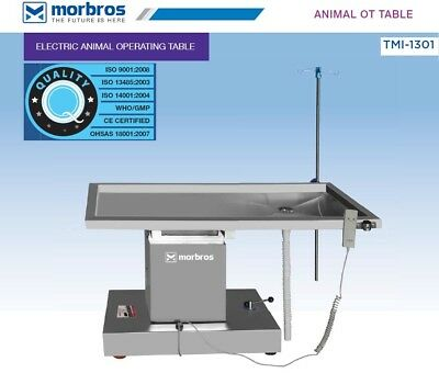 New Surgical Veterinary Operating Table Model TMI 1301 Electric Lift UP & DOWN
