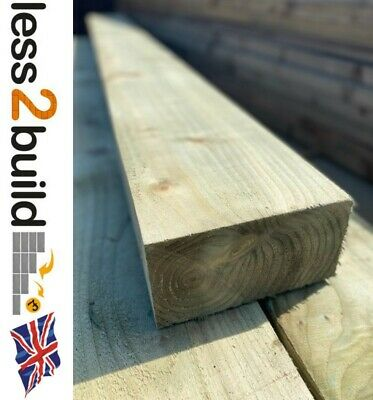 New Natural Colour Treated Timber Garden Railway Sleepers 200X100 2.4M