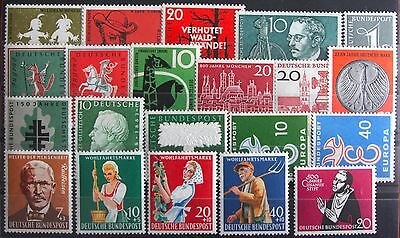 Germany Complete Year 1958 Stamp Set Mint Never Hinged MNH German Stamps