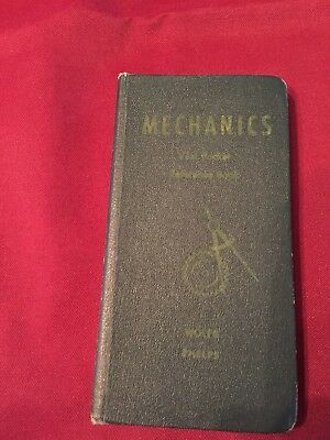 Wolfe & Phelps Mechanics Vest Pocket Reference Book 1945  EX COND FREE SHIPPING