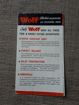 Wolf Solderguns And Soldering Iron Leaflet