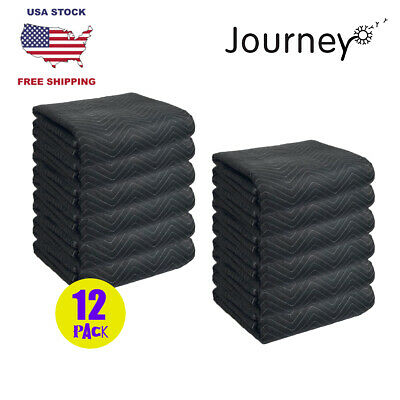 Set Of 12 Moving Blankets 45lb Per Pack Furniture Shipping Pads Heavy Duty Mats