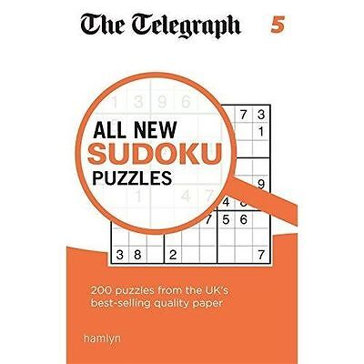 The Telegraph All New Sudoku Puzzles 5 (The Telegraph) NEW Paperback Book