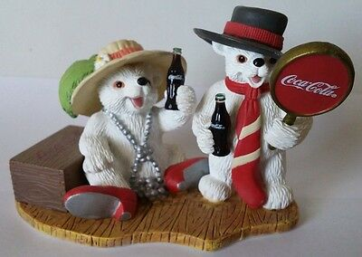 """Coca-Cola Polar Bear Cubs """"You Bring Out The Best In Me"""" ~ Figurine ~ H72055"""