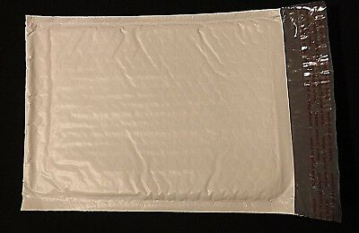"""1-25  #0  6 x 10"""" Poly Bubble Mailers White Padded Shipping Supply Bag Self Seal"""