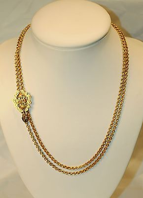 Vintage/antique Slide Necklace In Solid Yellow Gold - $20K Value