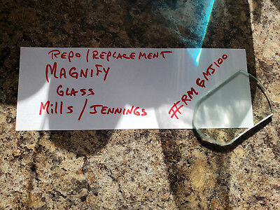 Mills / Jennings Replacment Magnify Glass For Gooseneck Antique Slot #rmgj100