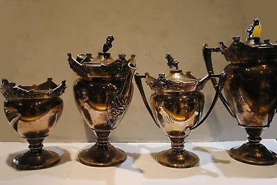 Four Antique Sterling Silver Service Pieces from Gorham