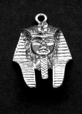 Ancient Egyptian King Tut Bust /  Sterling Silver/ Pdt. / Charm