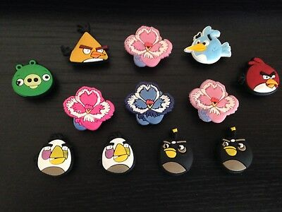 12 x Angry Birds Jibbitz Charms For Crocs & Wristbands **FREE P & P**