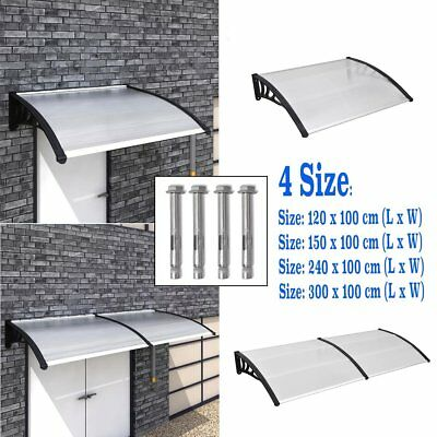 4 Size Door Canopy Awning Shelter Front / Back Porch Outdoor Shade Patio Cover