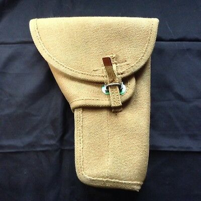 NOS  WW2 Canvas Pistol Holder Holster Dated 1945 UCF Canada