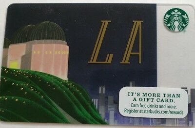 Starbucks 2016 Gift Card Los Angeles Griffith Park Observatory Series 6130 (RR)