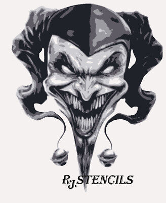 Multilayer airbrush stencil JESTER